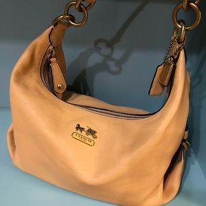 Coach Madison Hailey Apricot color Leather Purse